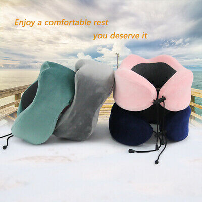 Memory Foam U Shaped Travel Pillow Neck Support Head Rest Airplane Cushion CA