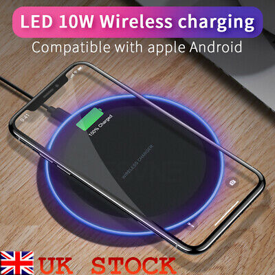 New Fast Qi Wireless Charger Dock For iPhone X 8 plus XR XS Samsung S8 S9 plus