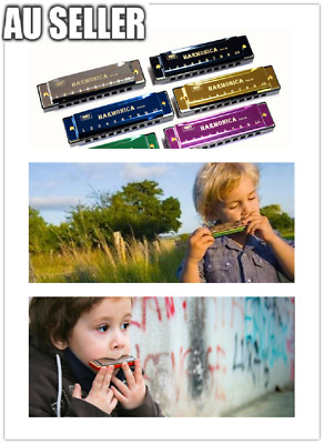 Harmonica Key of C Tremolo French Harp for Beginners and Kids Mouth10/24 Holes