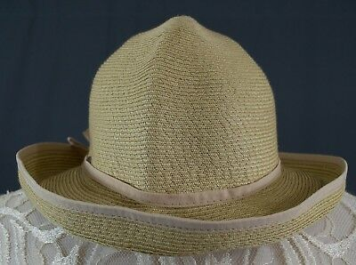 ed13928e98458 Womens The Scala Collection Crushable Floppy Straw Beach Sun Hat Bow Detail