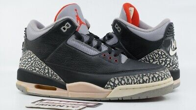 best website dc2ed 038a2 AIR JORDAN III 3 Retro 2001 New Size 10 Black Cement Grey 136064 001