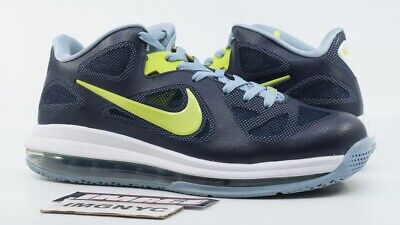 e9a28b4c23c Nike Lebron 9 Low Used Size 8.5 Obsidian Cyber White Blue Grey 510811 401