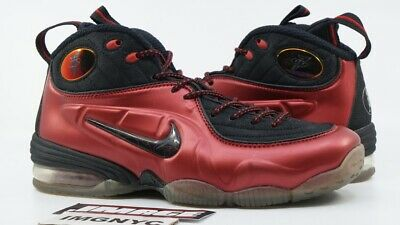 20d2792a82c19 Nike 1 2 Cent Penny Hardaway Used Size 8 Cranberry Varsity Red Black 344646  600