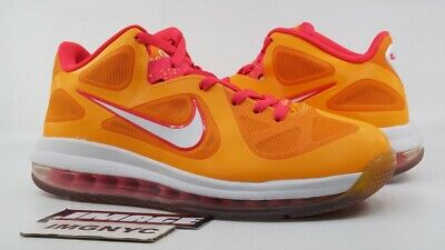 best sneakers 9d8e3 86467 Nike Lebron 9 Low Used Size 8.5 Floridian Vivid Orange Cherry 510811 800