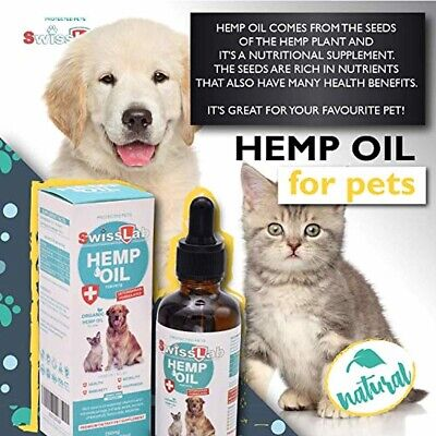 Organic Hemp Oil for Dogs and Cats Pets Stress Anxiety Pain Relief Natural NEW