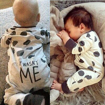 Newborn Kids Baby Infant Boy Girls Bodysuit Romper Jumpsuit Outfit Clothes 0-24M