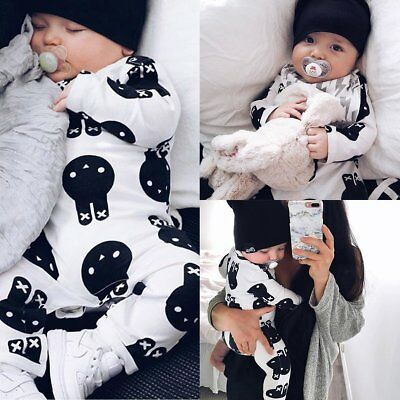 Newborn Infant Baby Boy Girl Kids Rabbit Romper Jumpsuit Bodysuit Clothes Outfit