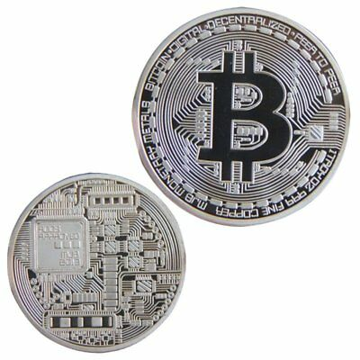 Silver BTC Coin Commemorative Coin Physical Bitcoin Casascius Bit BTC Collection