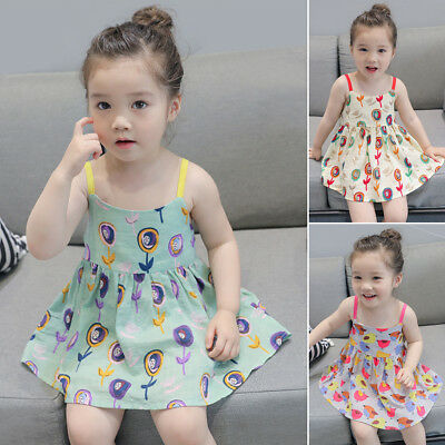 Toddler Kids Baby Girls Summer Princess Dress Pageant Party Tutu Dresses Clothes