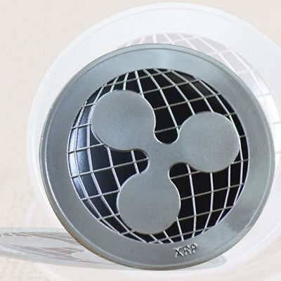 Silver Plated Ripple Coin CRYPTO Commemorative Coin Physical XRP Coin Collection