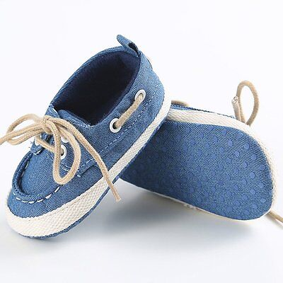 Newborn Infant Toddler Baby Boy Girl Soft Sole Crib Shoes Casual Sneaker 0-12M