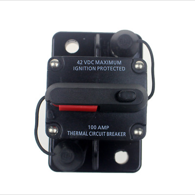 Car 50AMP Circuit Breaker IP67 Waterproof 12V 24V Fuse Manual Reset RV Truck