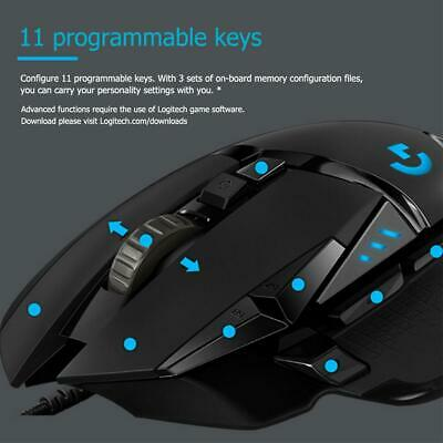 Logitech G502 Hero Gaming Mouse Programmable 16000DPI RGB Backlight Mouse Mice