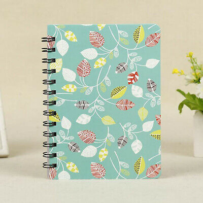 Floral Monthly Planner Diary Scheduler School Notebook Green Leaf Journal Book