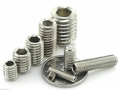 M3 M4 M5 M6 M8 304 Metric Stainless Cup End Headless Grub Screw Tightening Screw
