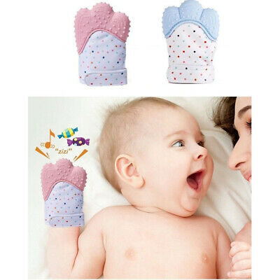 Baby Anti-bite Hand Gloves Infant Molar Dental Food Grade Silicone US SELLER