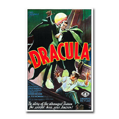 Dracula Vampire Old Horror Movie Silk Canvas Poster Wall Art Home Deocr Print