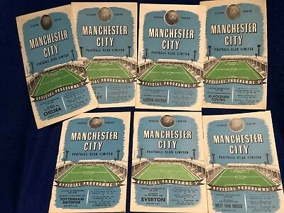7 Manchester City Homes 1958/59 Division 1 Choose From List