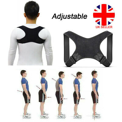 Body Shape Wellness Posture Corrector Elastic Shoulder Back Support Belt Vest UK