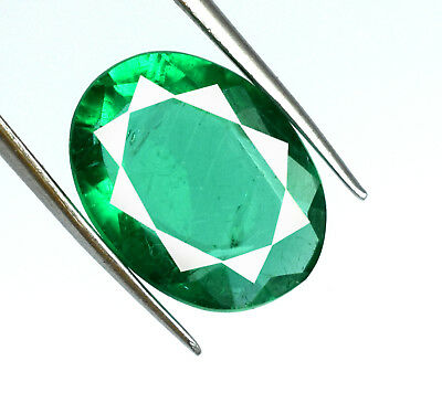 Muzo Colombian Green Emerald Gemstone Oval 7-9 Ct Natural Untreated Certified