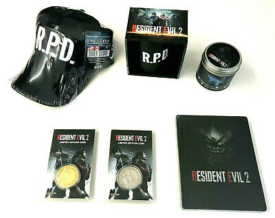 Resident Evil 2 HD REMAKE COLLECTOR'S SET: Steelbook+ COLLECTOR COINS+MUG+CANDLE