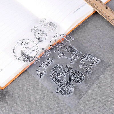 Transparent Clear Silicone Rubber Stamp Cling DIY Diary Scrapbooking Card Crafts