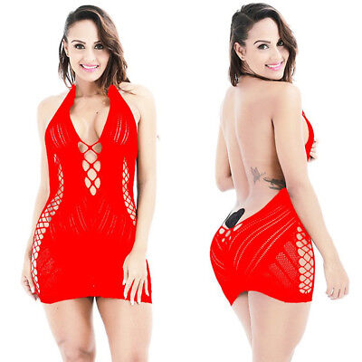 Women Sexy/Sissy Lingerie Nightwear Sleepwear Dress Babydoll Backless Underwear