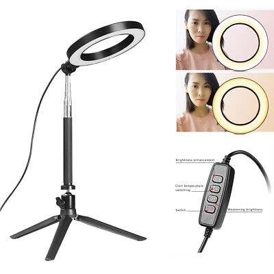 """6"""" Dimmable 5500K LED SMD Ring Light with Stand for Makeup Phone Camera Selfie"""
