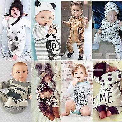 Newborn Kids Baby Boys Girls Infant Rompers Jumpsuit Bodysuit Clothes Outfit Set