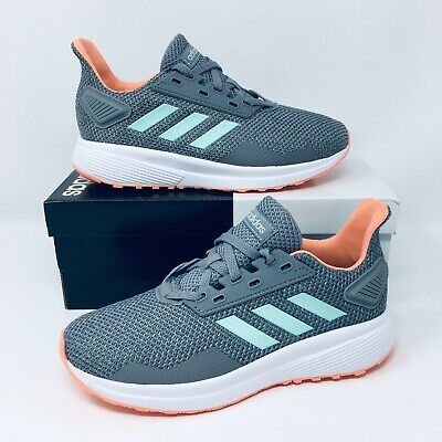 *NEW* Adidas Duramo 9 Cloudfoam (Youth Size 2) Athletic Shoes Grey Sneakers