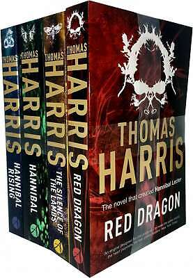 Hannibal Lecter Series Collection 4 Books Set by Thomas Harris (Red Dragon, Sile