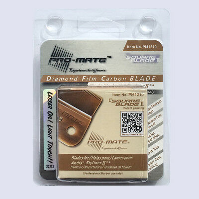 Pro-mate Diamond Film Carbon Square Blade ll PM1210