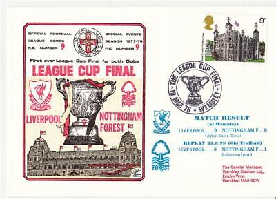 Dawn Football Event Cover (709) - 78 League Cup Final - Liverpool v Notts F (A)