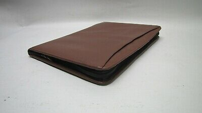 A4 Brown Real Leather folder (PA125R) will hold A4 diary or notebook Factory 2nd