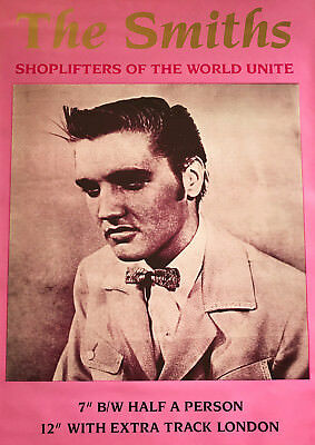 """Reproduction, The Smiths, """"Shoplifters of the World Unite"""" Poster, Morrissey"""