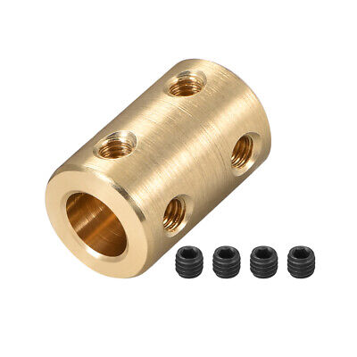 Shaft Coupling 6mm to 8mm Bore L22xD16 Robot Motor Wheel Rigid Coupler Gold Tone