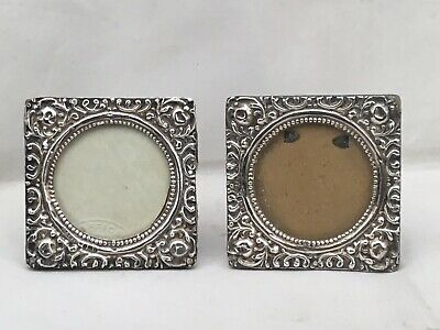 A Small Pair Of Silver Photograph Frames 1903/1904