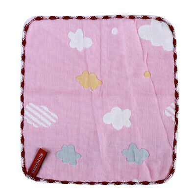 Baby Newborn Gauze Muslin Square Cotton Bath Washcloths Infant Bibs Towel 6A