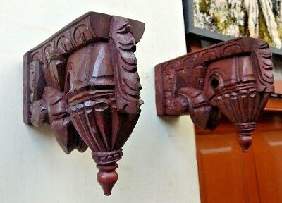 Wall Hanging Corbel Pair Wooden Bracket For Shelve Bodhil Home Art Decor Gift