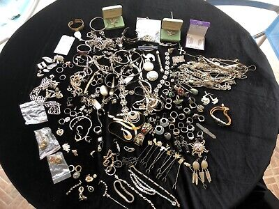 Huge Lot Vtg Sterling Silver 925 Jewelry Wear Scrap 4lbs 5oz rings native brooch