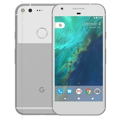 New Overstock Google Pixel 128GB  Silver GSM Unlocked for ATT and T-Mobile