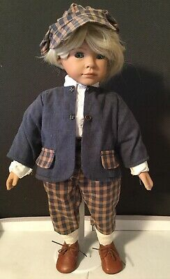 "Vintage HEIDI OTT Dapper Blonde Boy Doll Toy 19 "" (B2)"