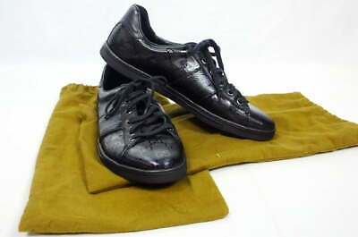 Gucci Imprime Lace-Up Sneaker 226535 Black 38 1/2G NEW w/Dust Bags
