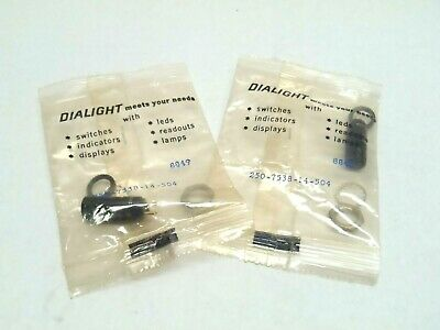 Lot of 2 Dialight 250-7538-14-504 Panel Mount Indicators Lamp Holder Solder Cups