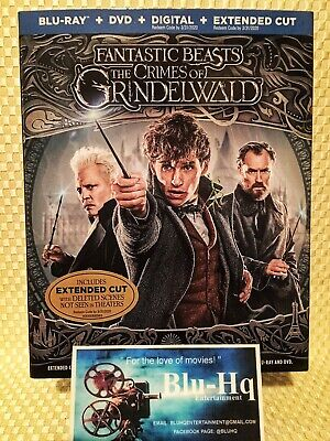 Fantastic Beasts: 💼 The Crimes of Grindelwald✨ (Blu-ray+DVD+Digital) NEW❗️