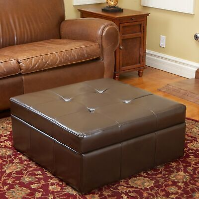 Magnificent Chatham Espresso Bonded Leather Storage Ottoman By Cjindustries Chair Design For Home Cjindustriesco