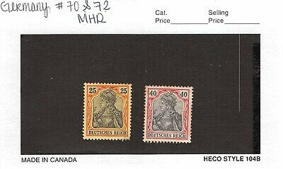 Lot of 2 Germany MHR Mint Hinged Remnant Stamps Scott # 70 & 72 #141155 X R