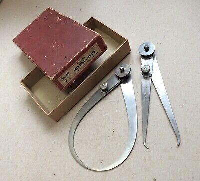 Starrett No.38 Inside & Outside Lock Joint Calipers With Box