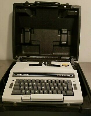 Vintage Smith Corona Sterling Cartridge, Model 3L Electric Typewriter w/ Case