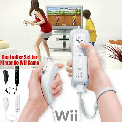 High quality Remote Wiimote Nunchuck Controller Set Combo for Nintendo Wii Game
